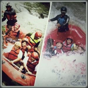 Rafting di sungai Palayangan - Pangalengan Bandung