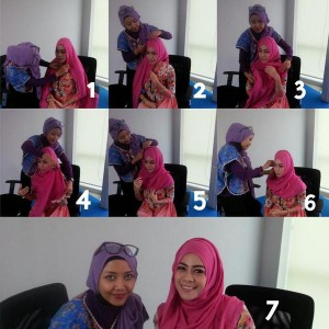 Sesi Make Over Ayu dengan Hijab