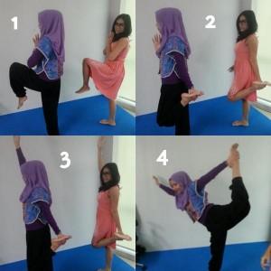 Sesi coba-coba yoga
